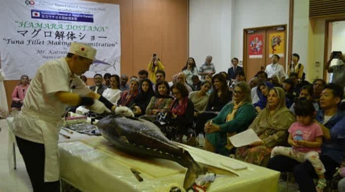 Tuna Fillet Making Demonstration held in Karachi