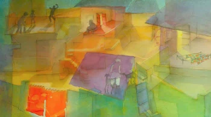Masood A Khan's walk down memory lane presented in latest artwork