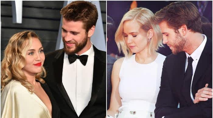 Miley Cyrus, Liam Hemsworth and Jennifer Lawrence's messy love triangle