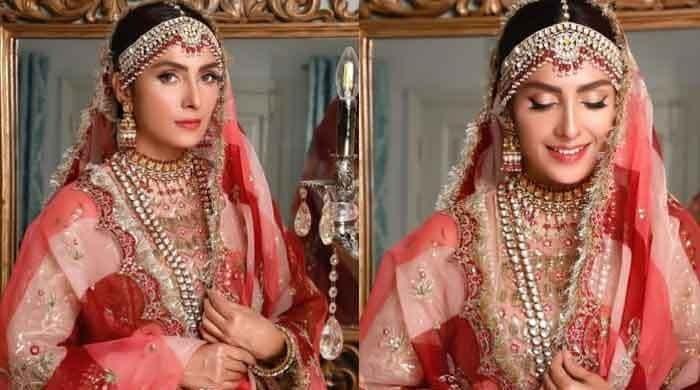 Ayeza Khan treats fans with her bridal look