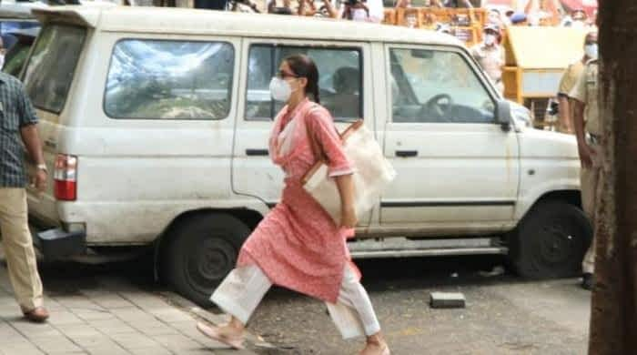 Sara Ali Khan arrives at NCB office to record statement in drug case